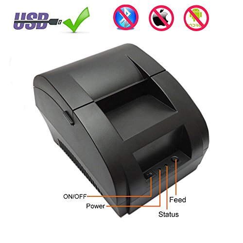 58MM Thermal Receipt POS Printer MUNBYN With USB and Cash Drawer Port for Home Business Support ESC/POS Command