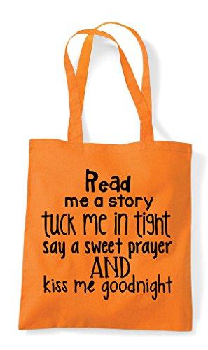 Read Bag Shopper Tote Story Tuck Orange Me In A rwpfrYq