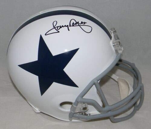 (Tony Dorsett Autographed Signed Memorabilia Dallas Cowboys White Full Size Helmet - JSA Authentic)