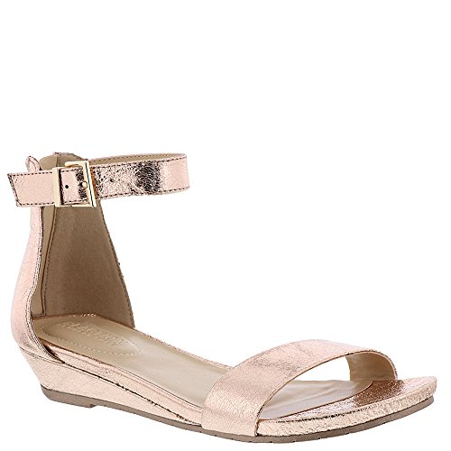 Reaction Kenneth Cole Great Viber Metallic Sandal - Women's Rose Gold