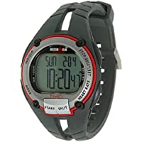 Timex Ironman Men's Road Trainer Heart Rate Monitor Watch, Grey/Red, Full Size