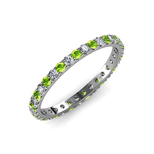 Peridot and diamond 2.4mm U-Prong Eterni - Prong Set Diamond Eternity Band Shopping Results
