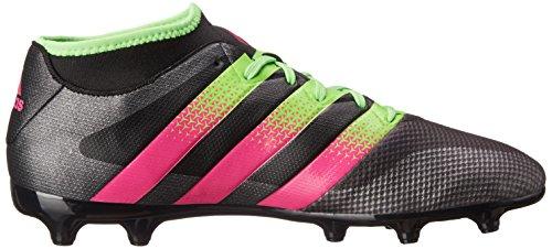 Bacchetta Da Calcio Adidas Performance Mens Asso 16.3 Primemesh Fg / Ag Nera / Verde Shock / Rosa Shock