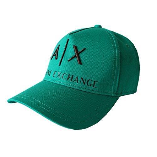 Armani Exchange Hombre Gorra Béisbol   Gorra De Golf A X LOGO NEGRO ... 0410ac9c486