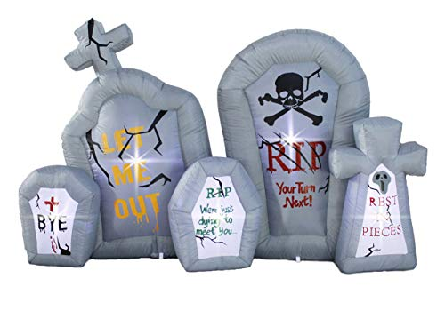 inslife 8Ft Inflatable Halloween Gravestone Inflatables Tombstone Headstone Decoration for Home Yard Lawn Garden Party Indoor Outdoor