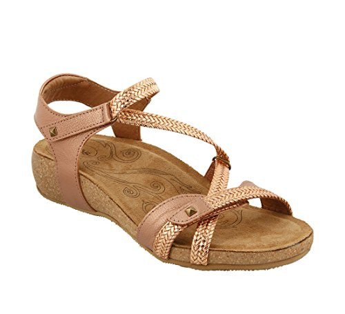 discount nicekicks clearance prices Taos Women's Ziggie Leather Sandal Rose Gold discount Cheapest classic sale online free shipping really fdUub9a