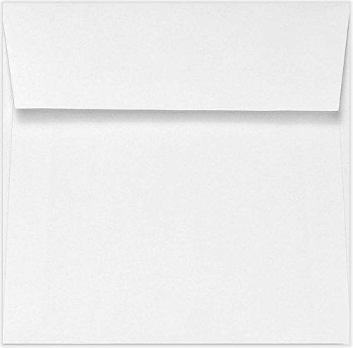 5 1/2 x 5 1/2 Square Envelopes w/Peel & Press - 70lb. Bright White (50 Qty.) | Sleek Square Flap | | Printable | 70lb Text Paper | 10902-50