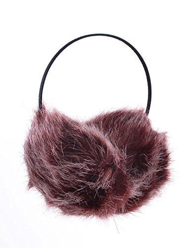 UPC 712662018841, Women Winter Headband Faux Fur Ear Pad Earmuffs Black Burgundy