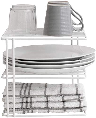 Livzing 3-Tier Kitchen Steel Corner Shelf Dish Rack countertop Stand -Plate/Tray/Pan/Pot Storage Organiser for Home Kitchen Pantry Cabinet (White) Price & Reviews