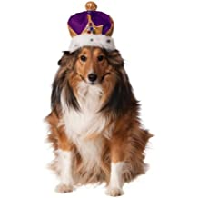 Rubies Costume Company Mardi Gras King's Crown for Pets, Medium/Large, Purple