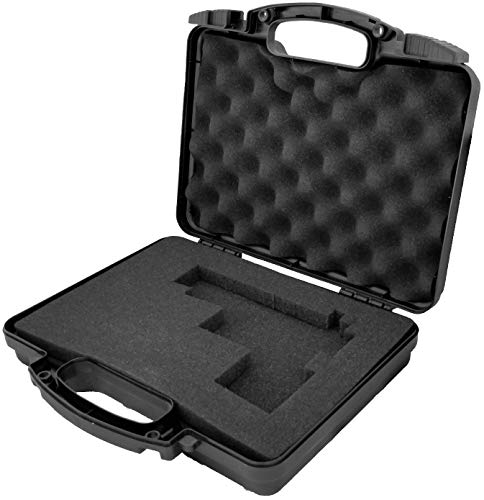 Cedar Mill Firearms Pick and Pluck Foam Hard Lockable Waterproof Pistol Gun Case for Carrying Handguns & Revolvers Airline TSA Approved Flight Travel Safe Fits Glock Smith & Wesson 9mm - Carrying Wesson And Smith Case