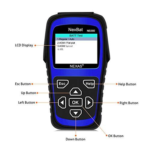 anne210 12V/24V Battery Tester Starter & Charging System 100-2000 CCA Battery Tester Battery Registration Scan Tool by anne210 (Image #5)