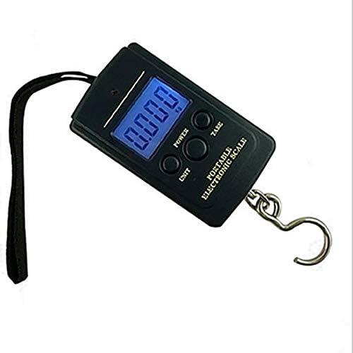OverTop b/áscula de peso colgante B/áscula digital para pescar equipaje de viaje port/átil b/áscula electr/ónica de gancho 40 kg x 10 g