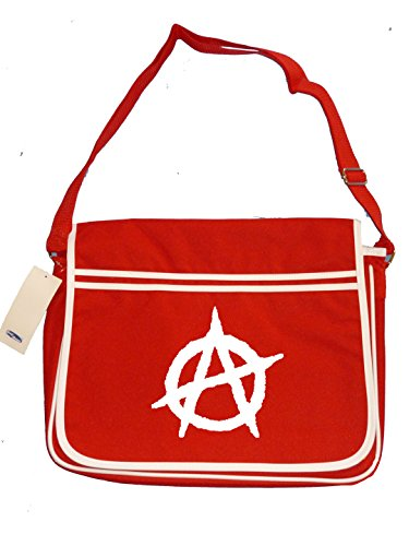 Retro Men's icon ANARCHY establishment Symbol Messenger Shoulder Red Anti Bag qFpw64pWxB