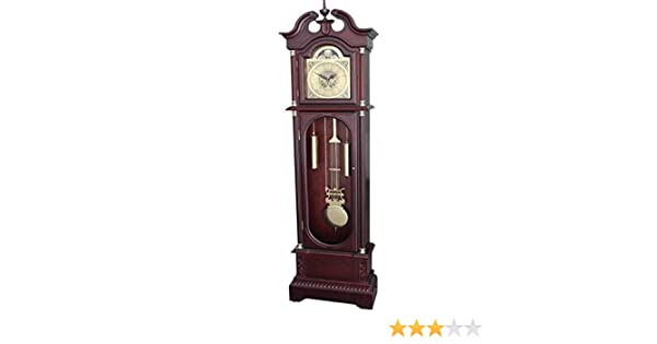 Amazon Com Grandfather Floor Clock Blue Moon Roman Numeral Wooden
