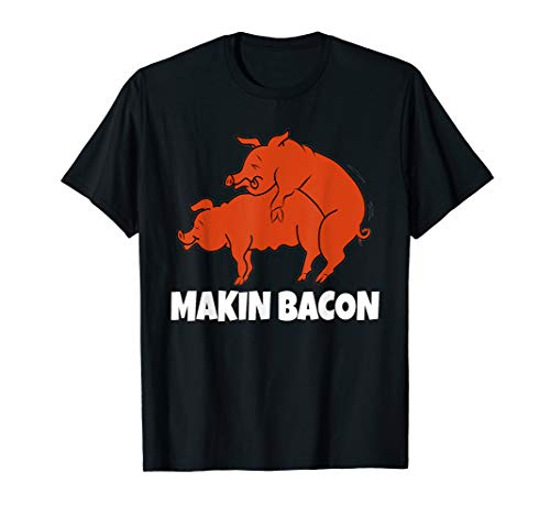 Funny Pig Bacon Shirt Smoking Grilling Meat Lover T-Shirt
