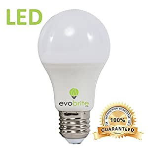 6 Pack LED Light Bulb By Evobrite Ultra Energy Efficient 9 Watt 3000k Warm White Light Bulb By Evobrite 60 Watt Equivalent Your Satisfaction Guaranteed Six Pack