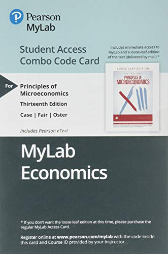 MyLab Economics with Pearson eText -- Combo Access Card -- for Principles of Economics (13th Edition)