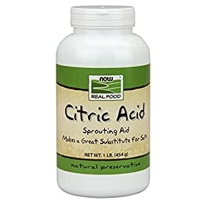 NOW Foods, Citric Acid, Sprouting Aid, Great Substitute for Salt, Preservative Found in Citrus Fruits, 1-Pound