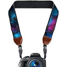trueshot Correa de cámara con hebillas de liberación rápida por USA GEAR–Compatible con Canon EOS Rebel T6i, 7d, PowerShot SX410IS y más cámaras DSLR, Mirrorless, instantáneo