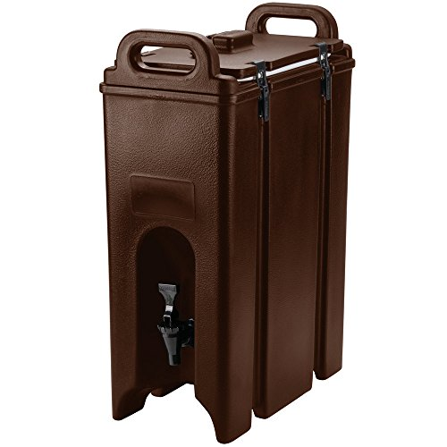 Cambro 500LCD131 Dark Brown 4.75 Gallon Camtainer Insulated Beverage - Camtainer Brown