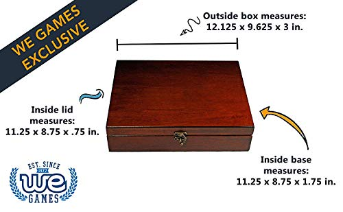 WE Games Old World Wooden Treasure Box with Brass Latch (Redwood Finish)