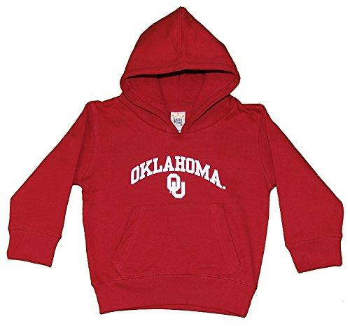 Little King NCAA Oklahoma Sooners Hooded Pullover, Youth Medium, Cardinal