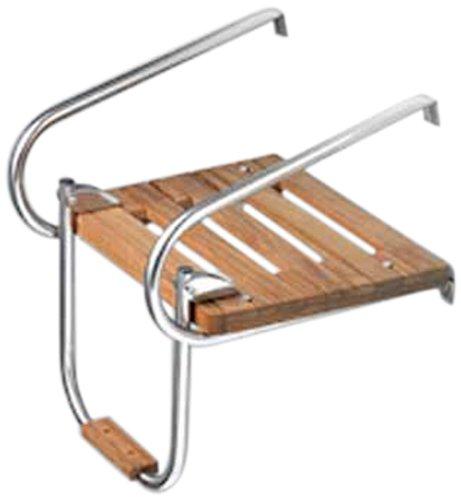 Swim Platform (Whitecap Teak Boat Swim Platform with Ladder for Inboard/Outboard Motors)