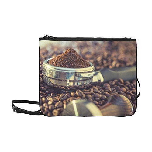 Delicious Coffee Beans Pattern Custom High-grade Nylon Slim Clutch Bag Cross-body Bag Shoulder Bag