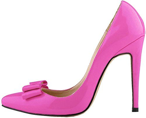 Calaier Damen Caactor 11CM Stiletto Schlüpfen Pumps Schuhe Violett