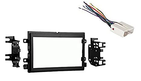 amazon com ford f 150 2004 2006 double din stereo dash kit and rh amazon com double din stereo wiring diagram double din stereo wiring
