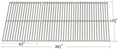 53083 Replacement Stainless Steel Cooking Grates  Set Of 3 For Master Forge Gas Grill Models