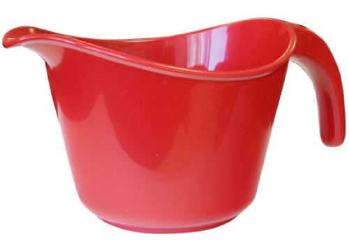 Calypso Basics by Reston Lloyd 2-Quart Microwave Safe Batter Bowl with Lid,  Red