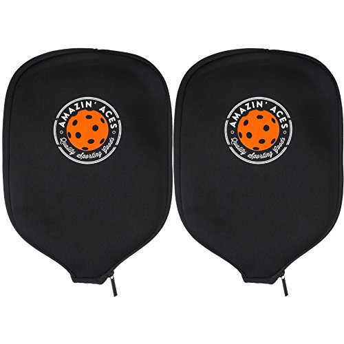 Cover Ace (Amazin' Aces Pickleball Paddle Covers by Set of Two Cases | Neoprene Cover Fits Most Rackets | Sleeves Protect Your Paddles From Scrapes & Dings)