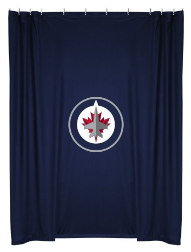 Amazon NHL Winnipeg Jets Shower Curtain 72 X Midnight