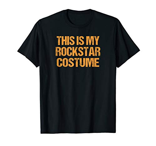 Rockstar Halloween Shirt Easy Lazy Last Minute Costume Rock