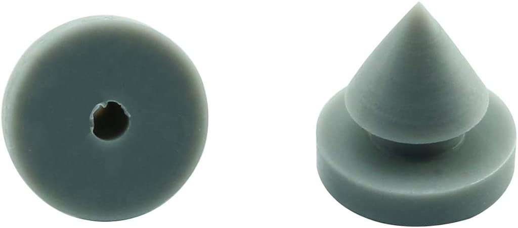 for Metal and Wood Doors Heavy Duty Rubber 1//2 Inch Diameter DZS Elec 12pcs Hinge Outlet Door Silencer