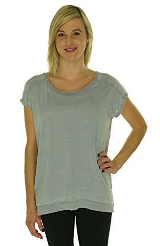Calvin Klein Women's Cotton/ Polyester T-Shirt Top (Medium, Stone)