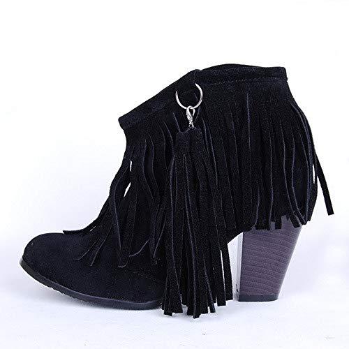 En Givrées Noir De Martin Hauts À Pour Taille Augmentées Bottes Femmes Wsr Grande Bottines Coton Antidérapantes Pompons Talons xzHqIw