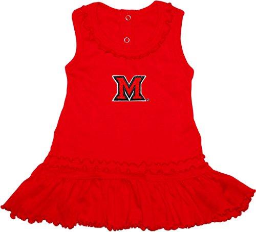 (Miami University Redhawks Ruffled Tank Top Dress with Bloomer Set)
