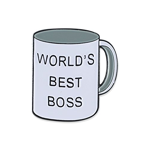 World's Best Boss Office Enamel Lapel Pin  1 Pin