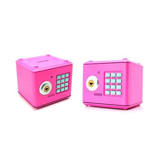 chic Heartte@ Children Piggy Bank, Mini Safe with 4-Digits Secret