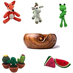 Amigurumi Knit & Crochet 5 Pack Plus Free Yarn Bowl