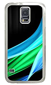 cassette Samsung Galaxy S5 covers Blue And Green Wave IlikeCom PC Transparent Custom Samsung Galaxy S5 Case Cover
