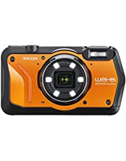 RICOH WG-6 Oranje waterdichte camera met hoge resolutie beelden met 20 MP 3 inch LCD waterdicht tot 20 m schokbestendig tot valhoogte van 2,1 m onderwatermodus ring met 6 leds voor macro-opnamen