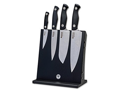 BOKER 130267SET Stonewash Saga Knife Set, Black by Böker