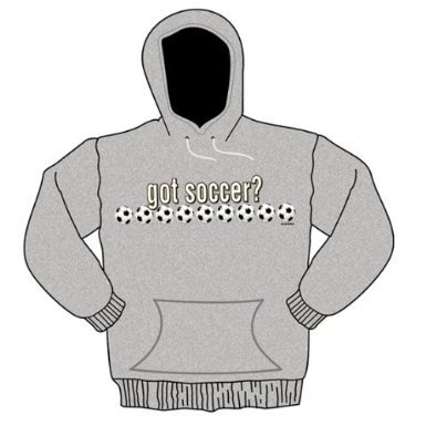 Ash Youth Football - Got Soccer Hooded Sweatshirt-large-youth-ash