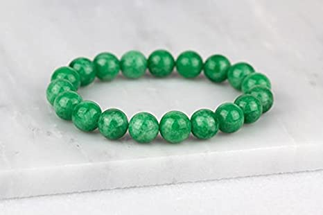 JP_Beads - Pulsera de jade, pulsera de menta boho, jade yoga ...