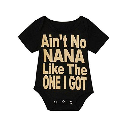 DORIC Baby Romper Bodysuit Jumpsuit Outfits Clothes Black