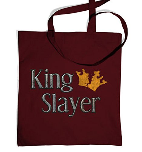 King Slayer Tote Bag - Burgundy One Size Tote Bag - Heir Costumes